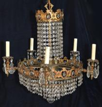 Vintage Hollywood Regency Chic Chandelier