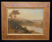 Stunning Signed European O/B Painting in Burl Frame