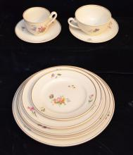 28 Pc Royal Copenhagen Primavera Plates & Cups