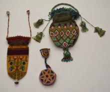 3 Vintage Beaded Native American Purses