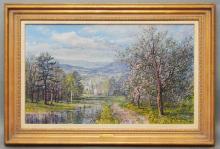 Carl Wuermer O/C  Landscape Painting