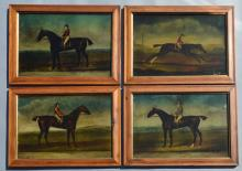 4  Framed Equestrian Horse Prints