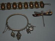 Generous Lot Of Antique & Vintage Sterling Jewelry