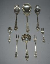 8 Lunt Eloquence Sterling Silver Serving Pieces
