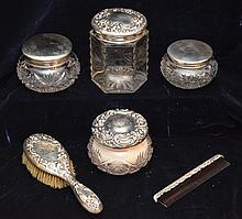 Sterling Silver Vanity Dresser Set