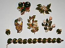 Lot of Designer Jade Costume Jewelry