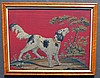 Framed Needlepoint Picture of Setter Dog