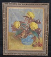 O/C Fall Leaves Still Life Painting
