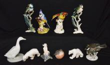 Generous Lot of Porcelain Birds & Animals