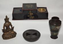 Nice Lot of Oriental Items (Bronze, Lacquer)