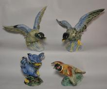 Collection of 4 Stangl Pottery Birds