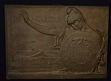 Keck U.S.S. Maine Bronze Memorial Plaque