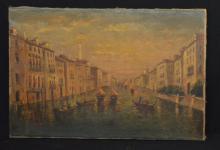 O/C Painting of Venice Signed Varini