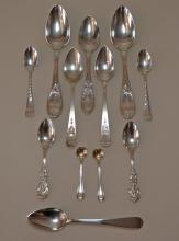 Lot of Miscellaneous Sterling Silver Spoons