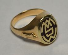 14k Gold Tiffany & Co Monogrammed Ring