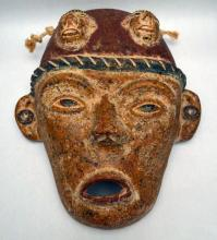 Large Latin American Terracotta Mask