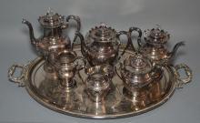 Victorian Reed & Barton Silver-plate Tea/Coffee Set