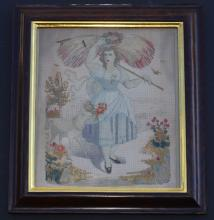 Little Bo Peep and Her Sheep Needlepoint Picture