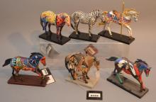 Lot of 6 Trail Painted Ponies Horses