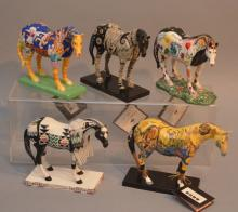 Lot of 5 Trail Painted Ponies Horses