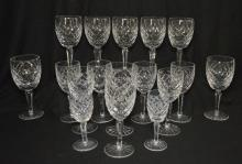 Lot Of 17 Waterford Comeraugh Glasses
