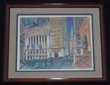 Kamil Kubik New York Stock Exchange Signed & Numbered Litho