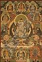 A THANGKA OF THE BODHISATTVA AVALOKITESHVARA AS SHADAKSHARI LOKESHVARA