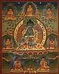 A THANGKA OF THE MEDICINE BUDDHA BHAISAJYAGURU
