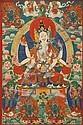 A THANGKA DEPICTING A LAMAISTIC DIVINITY