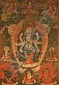 A THANGKA OF THE ELEVEN-HEADED BODHISATTVA AVALOKITESHVARA AS THE EKADASHAMAHAKARUNIKA LOKESHVARA