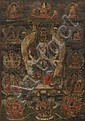 A THANGKA OF THE ELEVEN-HEADED BODHISATTVA AVALOKITESHVARA