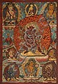 A THANGKA OF VAJRAPANI