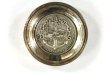 Silver-plated French Navy presentation dish - F795 Commandant Ducuing