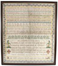 Original Sampler dated 1806 within a glass frame