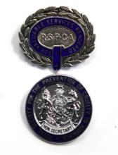 RSPCA Silver For Valuable Services Rendered Badge and RSPCA Honorary Secretary Enamel Badge