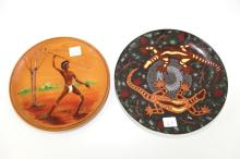 2x Aboriginal Motif Display Plates
