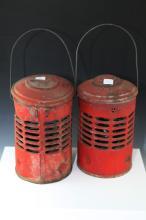 2x Vintage Road Lamps