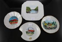 4x Pieces Souvenir Plates