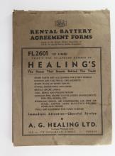 1930s Ephemera Rental Battery Forms