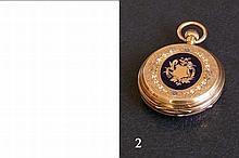 Antique Ottoman Enamel Gold Ladies Pocket Watch