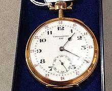 Chronomètre de poche LIP en or jaune ciselé à déco