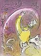 20. JAHRHUNDERT MARC CHAGALL Witebsk 1887 - 1985 Vence Salomon. Farblithographie aus La Bible I 1956. M. 131. Verso M. 136. - Auf Velin. 35,4 x 26 cm. Mit kleiner  Eckknickspur. [ms]