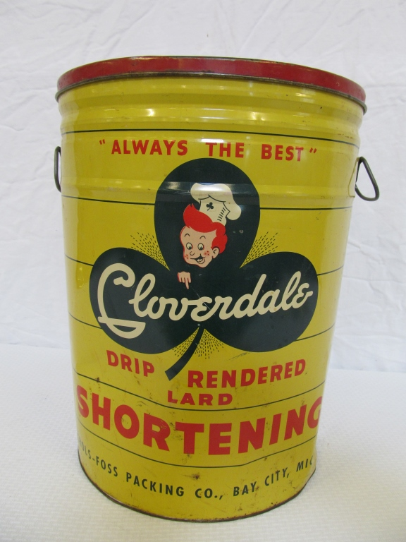 Vintage Cloverdale Lard Shortening Tin