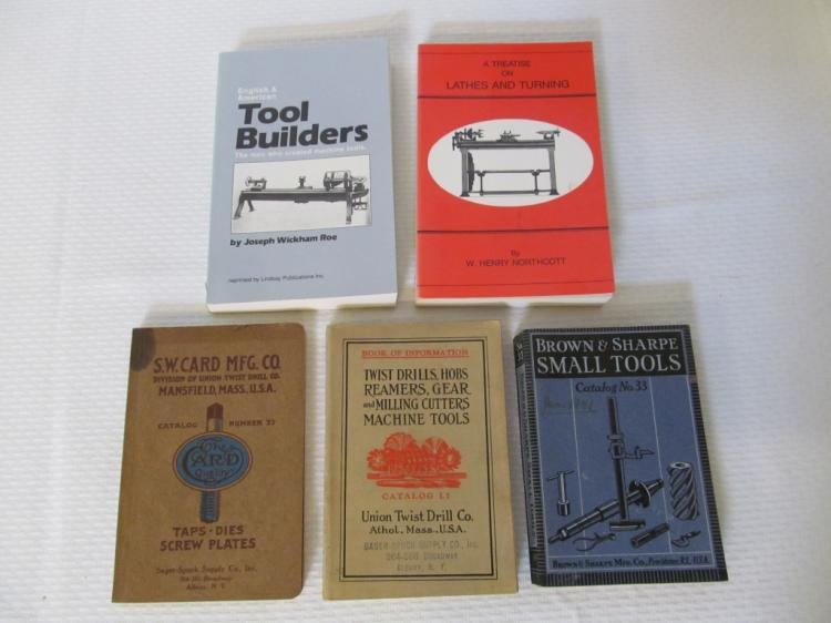 Lot of Five Woodworking & Machinist Books
