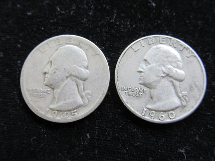 1945S & 1960D Washington Quarters