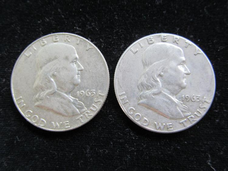 1963 & 1963D Franklin Half Dollars