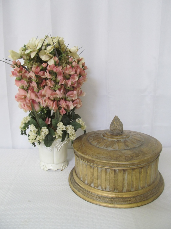 Decorative Bowl & Floral Arrangement
