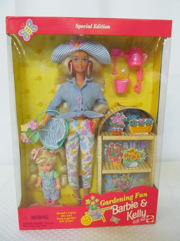 New, 1996 Gardening Fun Barbie & Kelly Gift Set