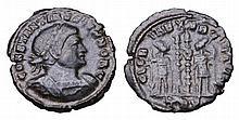 Constantine II as Caesar. 316-337 AD. AE Nummus.