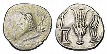 ARABIA FELIX. Sabaeans and Himyarites. 1st century AD. AR Drachm ANCIENT GREEK COIN.